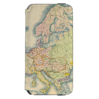 Ethnographic map of Europe iPhone 6/6s Wallet Case