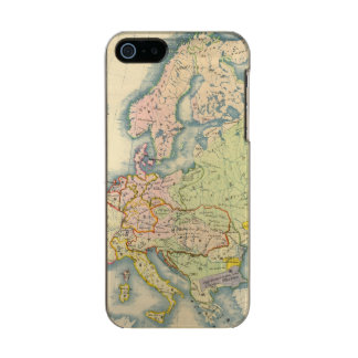 Ethnographic map of Europe Metallic Phone Case For iPhone SE/5/5s