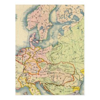 Ethnographic map of Europe Postcard