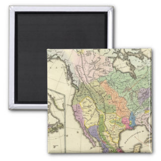 Ethnographic Map of North America 2 Inch Square Magnet