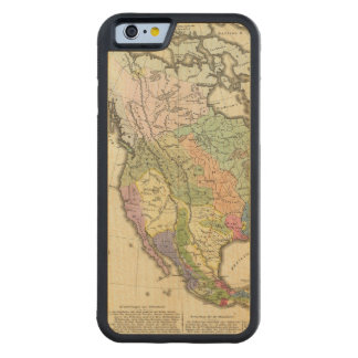 Ethnographic Map of North America Carved Maple iPhone 6 Bumper Case
