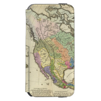 Ethnographic Map of North America iPhone 6/6s Wallet Case