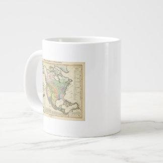 Ethnographic Map of North America Large Coffee Mug
