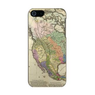 Ethnographic Map of North America Metallic Phone Case For iPhone SE/5/5s