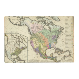 Ethnographic Map of North America Placemat