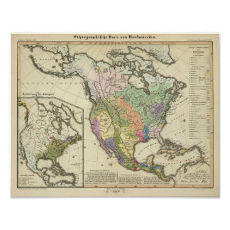 Ethnographic Map of North America Posters