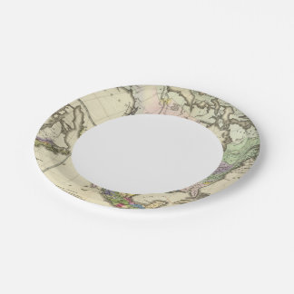 Ethnographic Map of North America 7 Inch Paper Plate