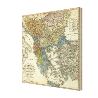 Ethnographic Map of Ottoman Empire Canvas Print