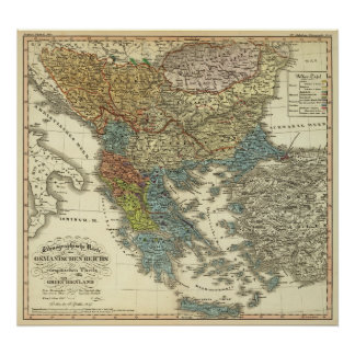 Ethnographic Map of Ottoman Empire Poster