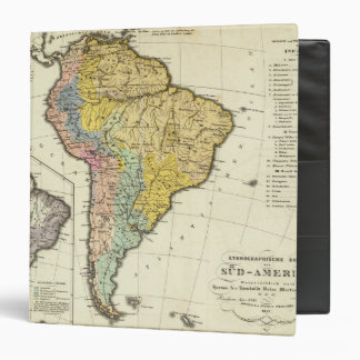Ethnographic Map of South America Binder