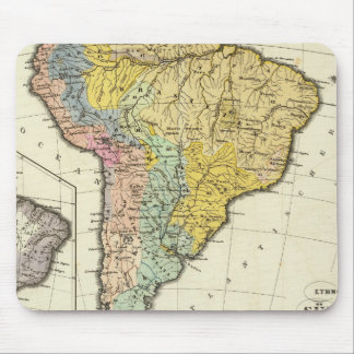 Ethnographic Map of South America Mouse Pad