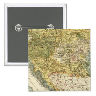Ethnography Map of Europe 2 Inch Square Button
