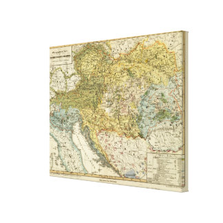 Ethnography Map of Europe Canvas Print