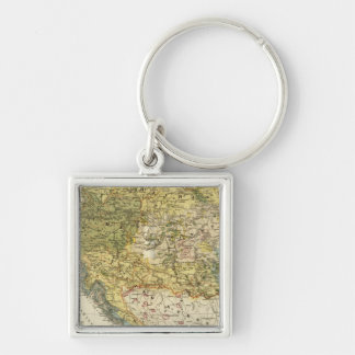 Ethnography Map of Europe Keychain