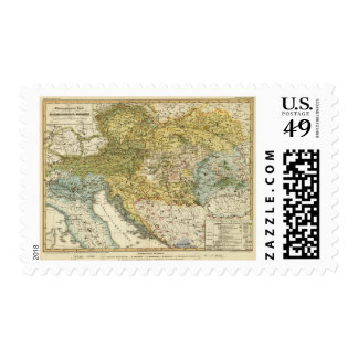 Ethnography Map of Europe Postage