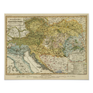 Ethnography Map of Europe Print