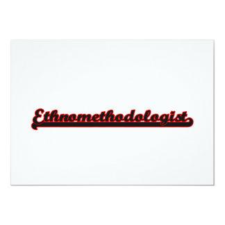 Ethnomethodologist Classic Job Design 5x7 Paper Invitation Card