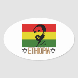 Ethopia Oval Sticker