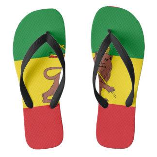 Ethopian flag flip flops