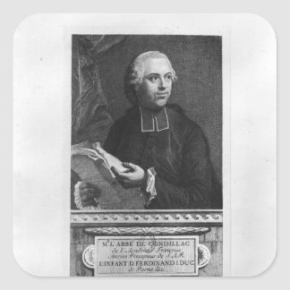 Etienne Bonnot de Condillac Square Sticker