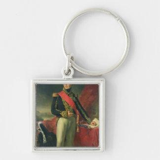 Etienne-Jacques-Joseph-Alexandre Macdonald Silver-Colored Square Keychain