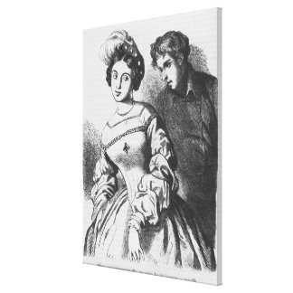 Etienne Lousteau speaking to an actress Canvas Print