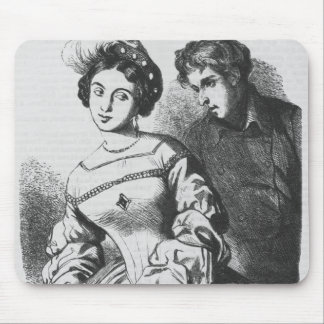 Etienne Lousteau speaking to an actress Mouse Pad