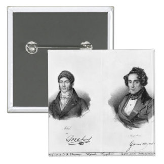 Etienne Mehul  and Giacomo Meyerbeer 2 Inch Square Button