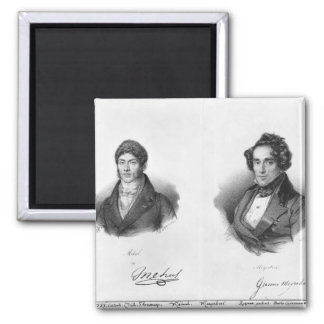 Etienne Mehul  and Giacomo Meyerbeer 2 Inch Square Magnet