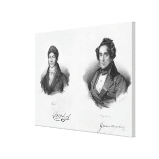 Etienne Mehul  and Giacomo Meyerbeer Canvas Print