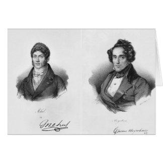 Etienne Mehul  and Giacomo Meyerbeer Greeting Card