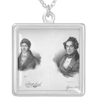 Etienne Mehul  and Giacomo Meyerbeer Square Pendant Necklace