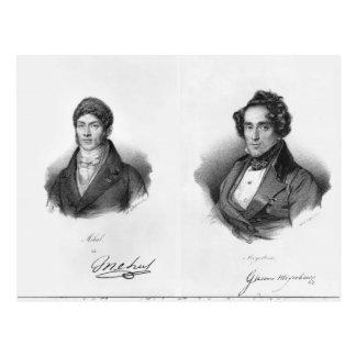 Etienne Mehul y Giacomo Meyerbeer Tarjeta Postal