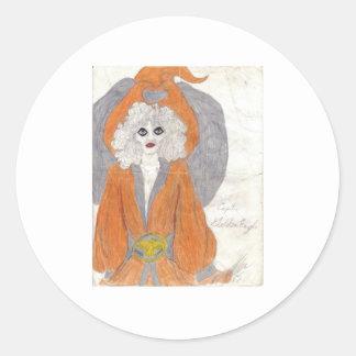 Etiole as the Goldeneagle Classic Round Sticker