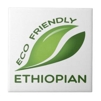 Etíope amistoso de Eco Azulejo Cuadrado Pequeño