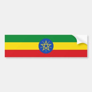 Etiopía/bandera etíope pegatina para auto