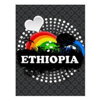 Etiopía con sabor a fruta linda tarjeta postal