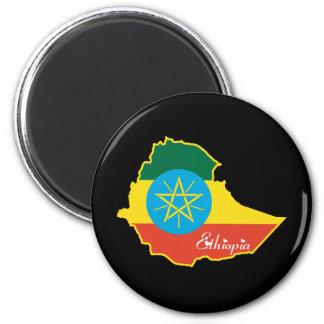 Etiopía fresca imán redondo 5 cm
