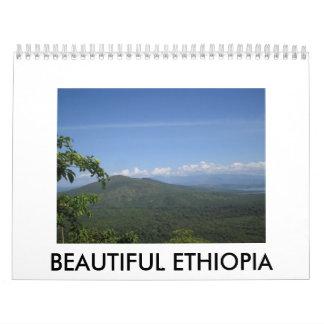 Etiopía hermosa calendarios