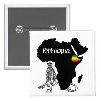 ETIOPÍA/LEÓN de JUDAH Pin Cuadrado