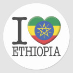 Etiopía Pegatina Redonda