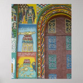 Etiopía:  Región de Tigray, Axum, iglesia de Crist Póster