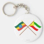 Etiopía y banderas cruzadas somalíes llavero
