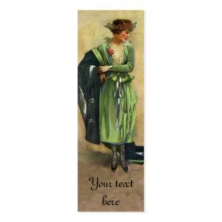 Etiqueta 1920 o tarjeta de la moda del vintage del tarjetas de visita mini