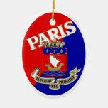 Etiqueta 1925 del equipaje de París Ornamento De Reyes Magos