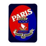 Etiqueta 1925 del equipaje de París Iman Flexible
