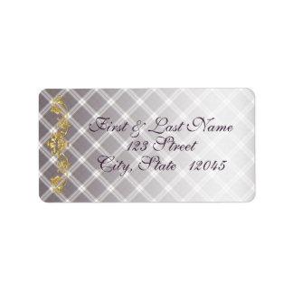 Etiqueta 1 del correo del tartán y del cardo del etiquetas de dirección