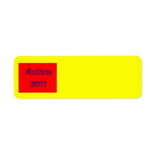 Etiqueta 2011 de Avery del autismo Etiquetas De Remite