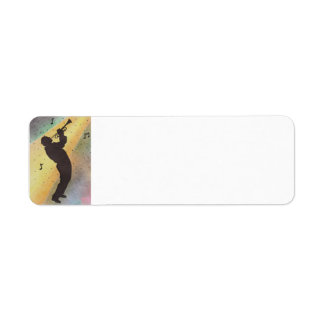 Etiqueta 2014-003a de la serie de la SILUETA de Etiqueta De Remite