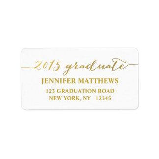 Etiqueta 2015 de dirección simple de la graduación etiquetas de dirección